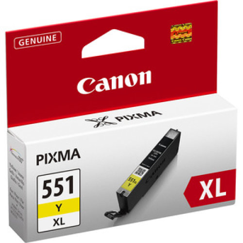 Canon Cli-551Y Xl Original Ink Cartridge Yellow Inkjet High Yield 685 Pages 6446B001