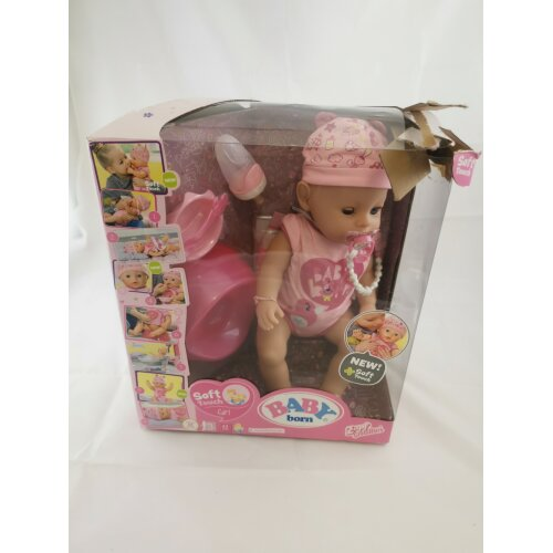 BABY born 824368 Soft Touch-Girl with Blue Eyes Interactive Doll