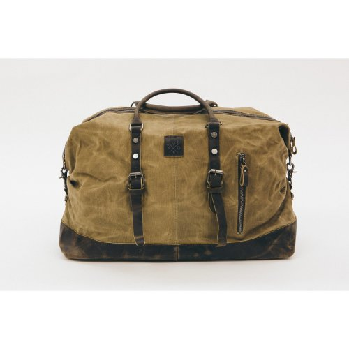 Kovered Water-Resistant Waxed Holdall - Brown | Waxed Cotton Holdall