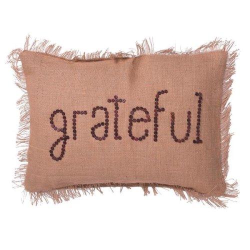 Vickerman QTX17651 14 x 20 in. Tan Grateful Pillow