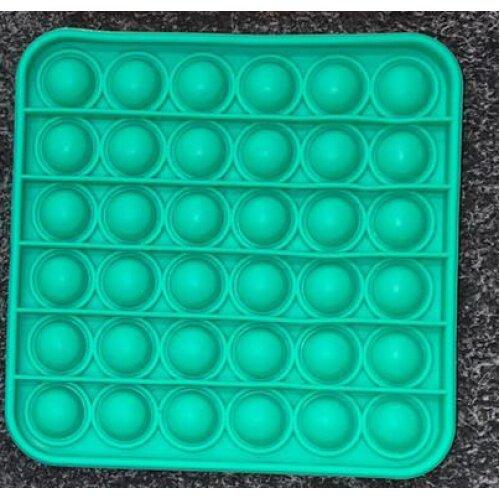 GREEN Square PopIt Finger Push Pop Pop Bubble Sensory FidgetToy Autism