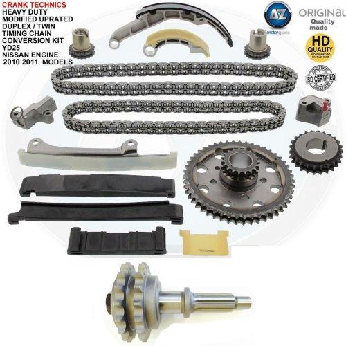 For Nissan Navara 2.5 TD YD25 Diesel Timing chain conversion kit duplex 2010+11