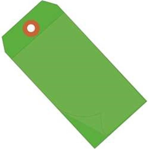 Box Partners G26026 4.75 x 2.38 in. Green Self-Laminating Tags - Case of 100