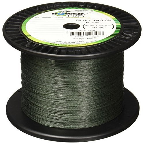 Power Pro Spectra Fiber Braided Fishing Line Moss Green 1500YD 30LB