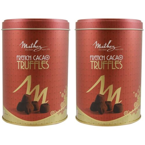 Mathez French Cocao Truffles (2x500g) or (525g) Gift Set + Free Gift Wrapping (Palm Oil Free)
