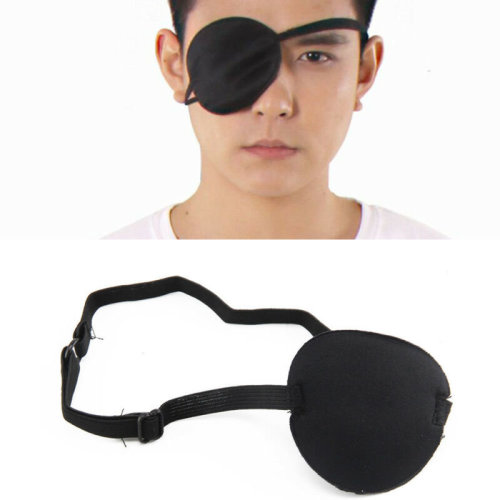 Adjustable Concave Eye Patch Foam Groove Strap Healthy Single Eyeshade
