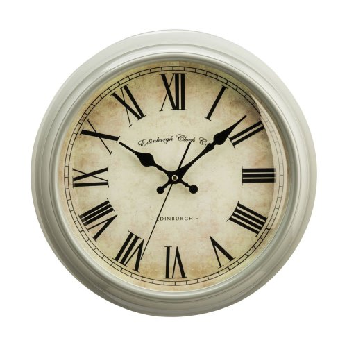 Traditional Vermont Wall Clock , Grey