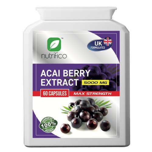 Acai Berry 10:1 Extract 5000mg High Strength Concentrated Pills