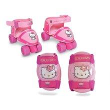Hello Kitty Children's Quad Skates & Protective Pads Set, 24 to 29