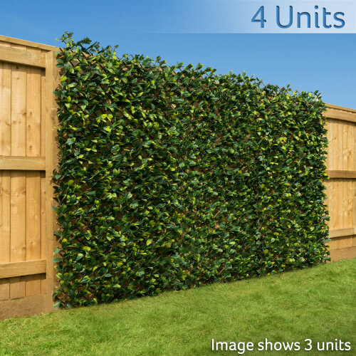 Artificial Leaf Hedge Screening Garden Expanding Trellis Privacy Screen 1m x 2m