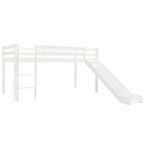 vidaXL Children's Loft Bed Frame with Slide & Ladder Pinewood 97x208cm Cot