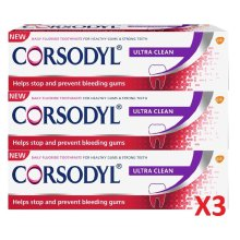 Corsodyl Ultra Clean Toothpaste 75ml 3 Pack