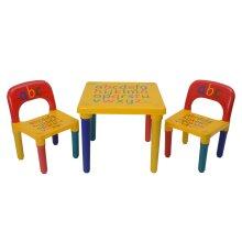 2 X Chair Set Gift Christmas ABC Alphabet Children Plastic Table UK