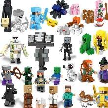 Minecraft puzzle blocks 29 pieces/set of Lego block figures suitable for architectural roles