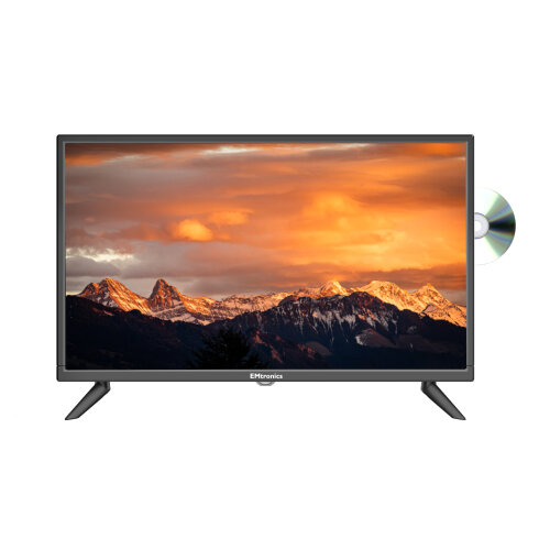 """EMtronics 24"""" Inch HD TV with Built-in DVD and Freeview, HDMI, USB, VGA"""