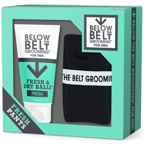 Below The Belt Grooming Fresh Pants Gift Set - includes Fresh & Dry Balls Fresh and Below the Belt Boxer Shorts - Protects against Sweat and Odour