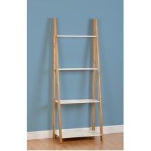 Seconique Santos White & Pine 4 Shelf Ladder Unit