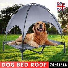 Premium Elevated Dog Cot Cat Pet Bed Removable Canopy Indoor/Outdoor Waterproof