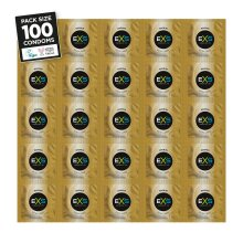 100 x Exs Magnum Extra Large Condoms | Vegan Condoms | 60mm Width 212mm Length