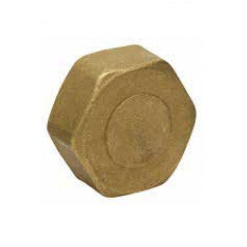 Cap yellow female 1 inch brass
