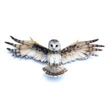 OWL IN FLIGHT WALL PLAQUE SCULPTURE HARRY POTTER