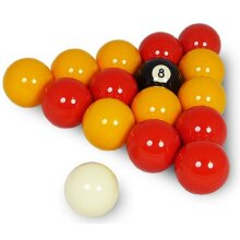 """TABLE GAMES INDOOR PLAY SNOOKER BILLIARDS 2"""" LEAGUE POOL BALLS SET REDS/YELLOWS ( ***New)"""