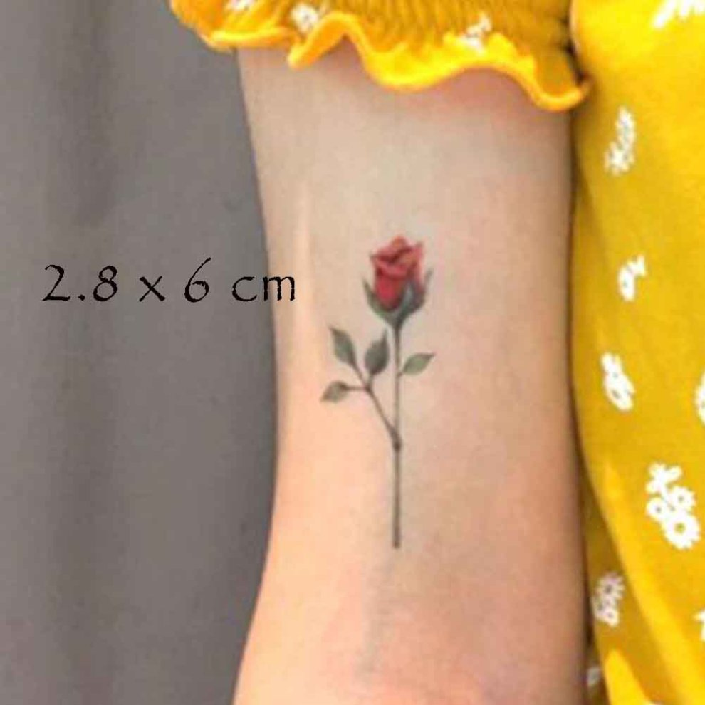 3 Sheets Small Colorful Rose Temporary Tattoos Body Art Stickers Makeup Fake Tattoos Women Tattoo Sticker On Onbuy