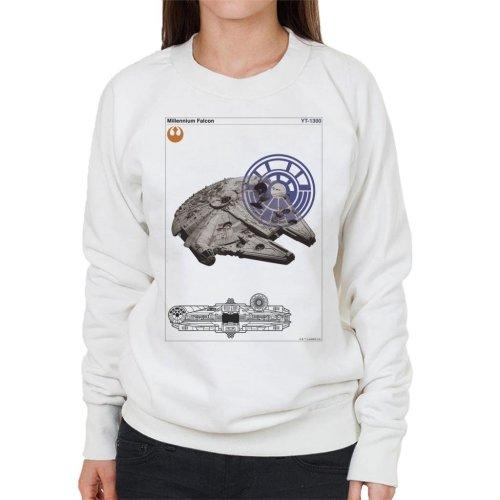 Star Wars Millenniumm Falcon Orthographic Women's Sweatshirt