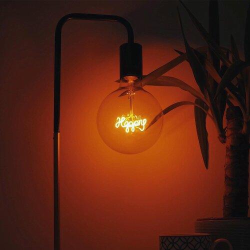 Yellow Happy light bulb