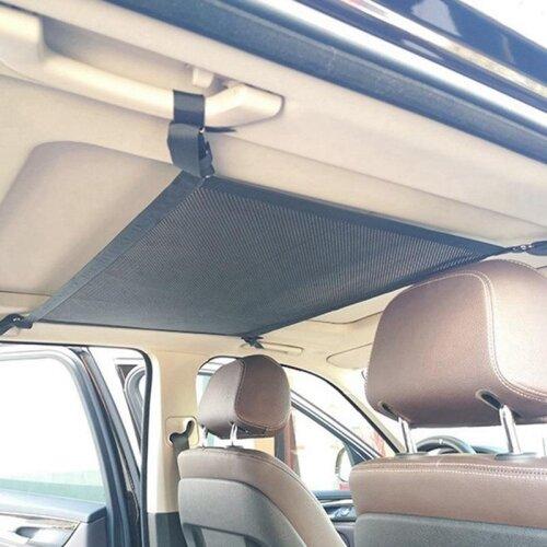 Car Net Pocket, Storage Ceiling Roof Cargo Net In The Trunk
