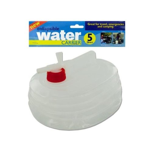 Kole Imports HL181-24 5 qt. Collapsible Water Carrier, Pack of 24