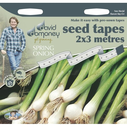 Vegetable - David Domoney Spring Onion White Lisbon Seed Tape