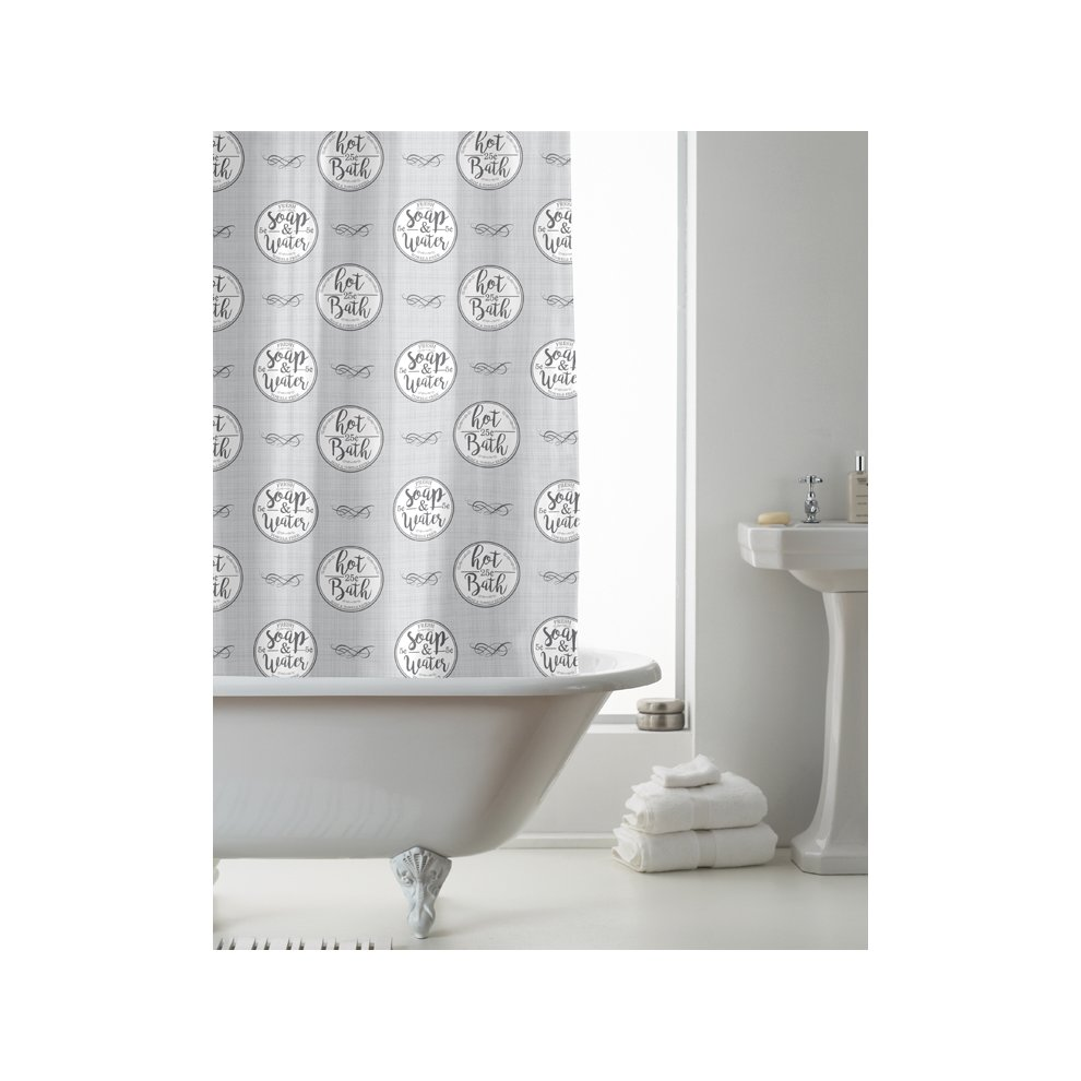 Croydex Fish shower curtain vinyl 180 cm x 180 cm BIG BRAND SALE