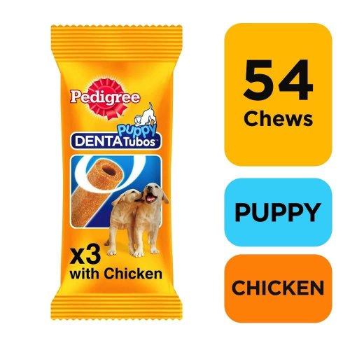 PEDIGREE Puppy Denta Tubo Puppy Treats 3 Stick (Pack of 18)