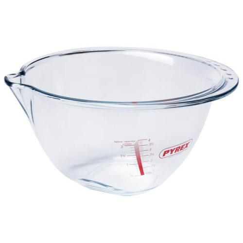 Pyrex Glass Preparation Bowl Plastic 4.2 L + Lid