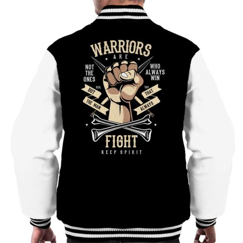 (Medium) Warriors Are The Ones That Fight Men's Varsity Jacket