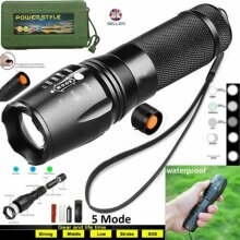Details about  FLASHLIGHT LED TACTICAL TORCH RECHARGEABLE BRIGHT T6