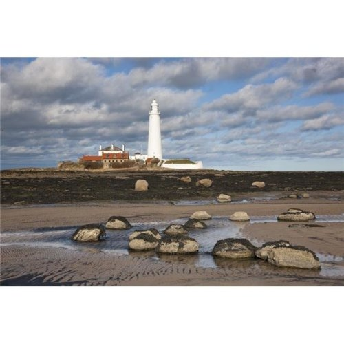 Lighthouse Northumberland England Poster Print, Large - 38 x 24