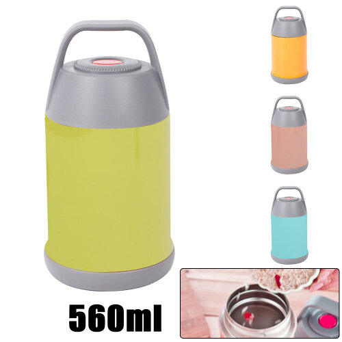 560ML Thermos Hot Food Flask Lunch Box Insulated Vacuum Storage