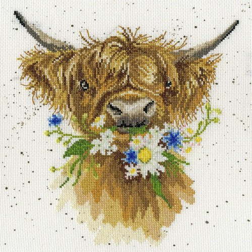 Bothy Threads counted cross stitch kit - Daisy Coo -  14 count speckled aida