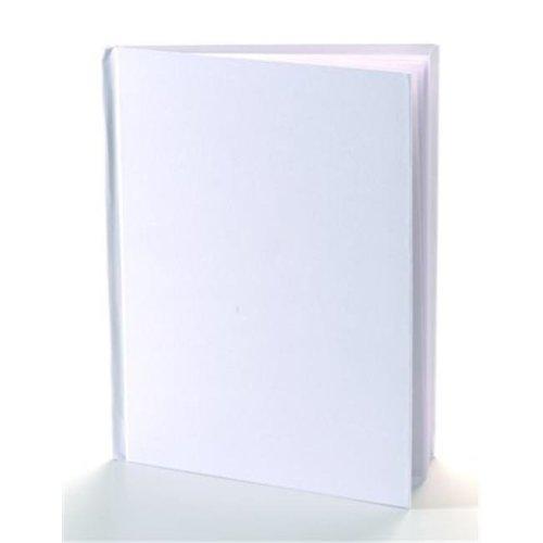 White Hardcover Blank Book 11X8.5