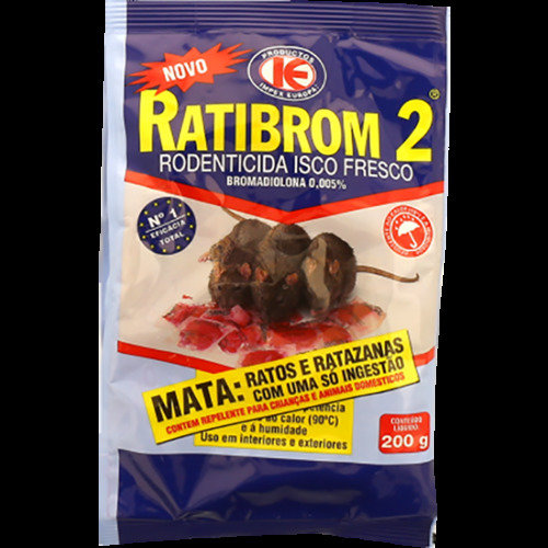 RATIBROM 2 Rat & Mouse Professional Paste Bai t Rodent - 200gr