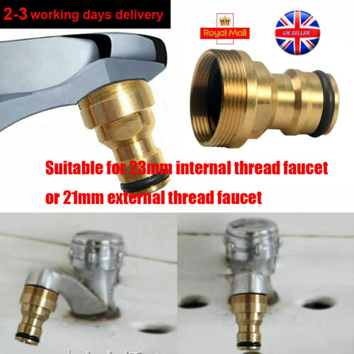 23mm Water Tap Connector Mixer Garden Hose Adaptor Pipe Joiner Fitting