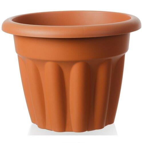 40cm Vista Medium Round Plastic Plant Pot 95% Recycled Plastic UK Made