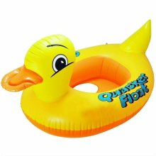 Inflatable Baby Swimming  Seat Float Sun Shade Boat Beach Pool Duck