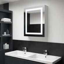 vidaXL LED Bathroom Mirror 50x13x70cm Wall Light Vanity Mirror Wall Cabinet