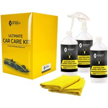 Renault F1 Car Cleaning Kit with Gift Box 3 x 1L, 1 x Trigger, 2 x MF
