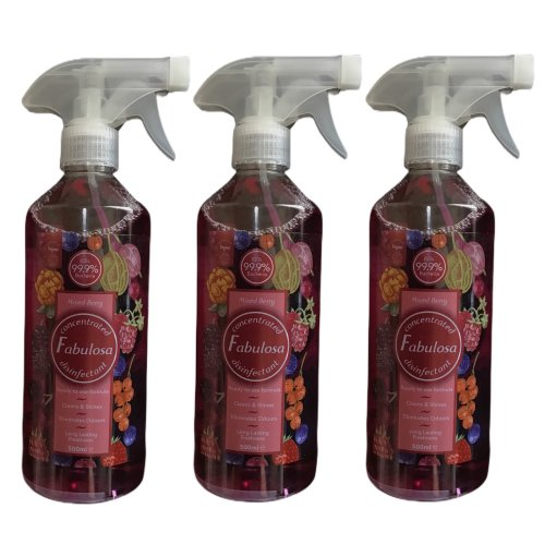 Fabulosa Disinfectant Spray Mixed Berry 500 ml 3 Bottles