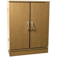 COLUMBUS - Double Door 324 CD / 213 DVD Media Storage Cabinet - Oak