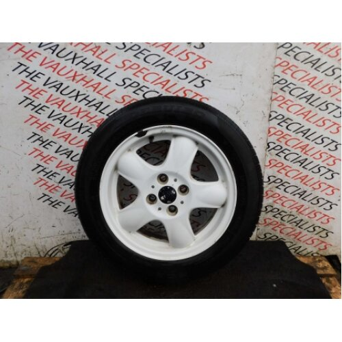 Mini Cooper One R55 R56 06-13 Single Alloy Wheel + Tyre 15 Inch White 6768498 - Used